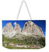 Sassolungo From Sella Pass Weekender Tote Bag