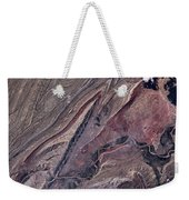 Satellite View Of Big Horn, Wyoming, Usa Weekender Tote Bag