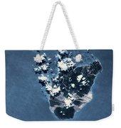 Satellite View Of Montserrat Island Weekender Tote Bag