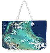 Satellite View Of Turks And Caicos Weekender Tote Bag