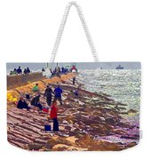 Saturday Morning On The Surfside Jetty Weekender Tote Bag
