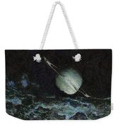 Saturn-y Weekender Tote Bag by Ayse Deniz