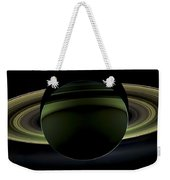 Saturns Glowing Rings Weekender Tote Bag by Adam Romanowicz