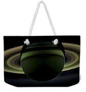 Saturns Glowing Rings Weekender Tote Bag