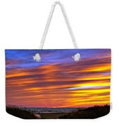 Sauble Sunset Weekender Tote Bag