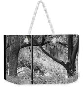 Savannah Afternoon - Black And White Weekender Tote Bag