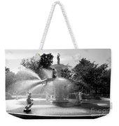 Savannah Fountain - Black And White Weekender Tote Bag