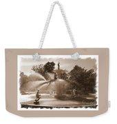 Savannah Fountain In Sepia Weekender Tote Bag