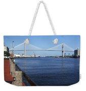 Savannah River Bridge Ga Weekender Tote Bag