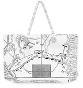Savannah Siege Map, 1779 Weekender Tote Bag
