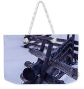 Sawtooth Sunset In Winter Weekender Tote Bag