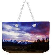 Sawtooth Sunset Panorama Weekender Tote Bag