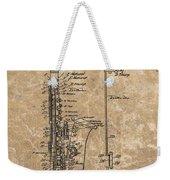 Saxophone Patent Design Illustration Weekender Tote Bag
