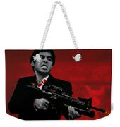 Say Hello To My Little Friend  Weekender Tote Bag by Luis Ludzska