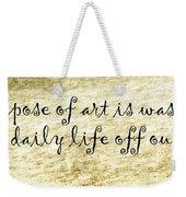 Say It Again Weekender Tote Bag by Joan Carroll