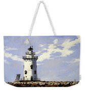 Saybrook Breakwater Lighthouse Old Saybrook Connecticut Weekender Tote Bag