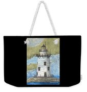 Saybrook Lighthouse Ct Chart Map Art Weekender Tote Bag