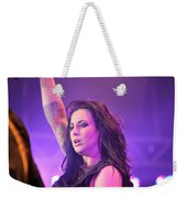 Saying Goodnight To Her Fans Weekender Tote Bag