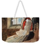 Scandinavian Peasant Woman In An Interior Weekender Tote Bag by Alexandre Lunois