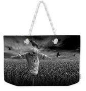 Scarecrow And Black Crows Over A Cornfield Weekender Tote Bag