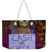 Scarecrow Holding Sign Weekender Tote Bag