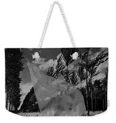 Scarf In The Winds In Black And White Weekender Tote Bag