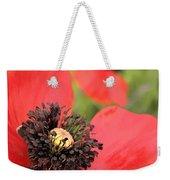 Scarlet Poppy Macro Weekender Tote Bag