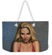 Scarlett Johansson Weekender Tote Bag by Paul Meijering