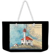 Scarlett Pt Lighthouse Bc Canada Chart Art Weekender Tote Bag