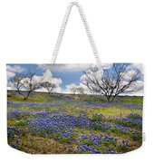Scattered Bluebonnets Weekender Tote Bag