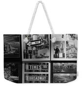 Scenes Of New York In Black And White Weekender Tote Bag