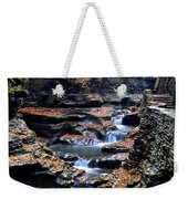 Scenic Cascade Weekender Tote Bag by Frozen in Time Fine Art Photography
