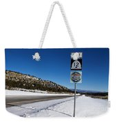 Scenic Highway 12 With Snow Utah Weekender Tote Bag