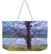 Scenic Landscape Painting Through Tree - Spring Has Sprung - Color Fields - Original Fine Art Weekender Tote Bag