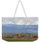Scenic View Looking Over Anderson Farms Up To Rockies Weekender Tote Bag