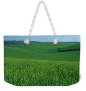 Scenic View Of A Field, South Downs Weekender Tote Bag