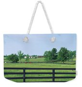 Scenic View Of Horse Farm, Woodford Weekender Tote Bag