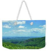 Scenic View Of Mountain Range, Blue Weekender Tote Bag