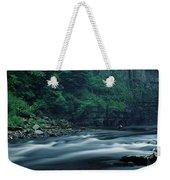 Scenic View Of Waterfall, Teesdale Weekender Tote Bag
