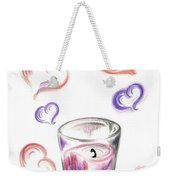 Scented Candle With Love Weekender Tote Bag