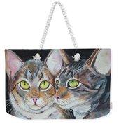 Scheming Cats Weekender Tote Bag