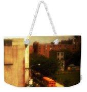 School Bus - New York City Street Scene Weekender Tote Bag