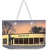 School Bus Repair Shop Weekender Tote Bag