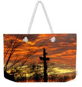 School Totem Pole Sunrise Weekender Tote Bag