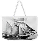 Schooner, 1888 Weekender Tote Bag