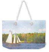 Schooner Castine Harbor Maine Weekender Tote Bag by Carol Leigh