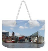 Schooner Comming Back To Baltimore Harbor Weekender Tote Bag