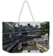 Schuylkill Canal In Manayunk Weekender Tote Bag by Bill Cannon