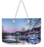 Schuylkill River And Boathouse Row Philadelphia Weekender Tote Bag