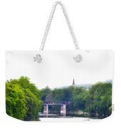Schuylkill River At Manayunk Philadelphia Weekender Tote Bag by Bill Cannon